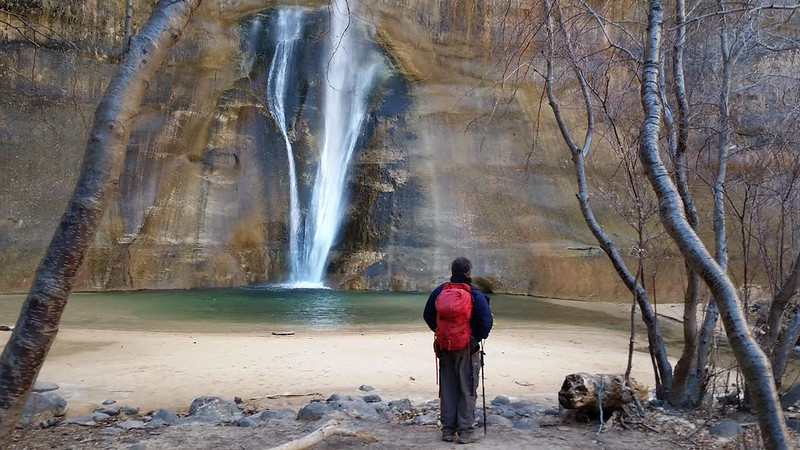 Lower Calf Creek Fall--Destination of our New Year's Eve hike (Mark Sterkel photo)