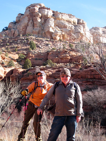 Jim Catlin and his sister Liz Poulter on the hike.  Liz drove us to Boulder in her new car.