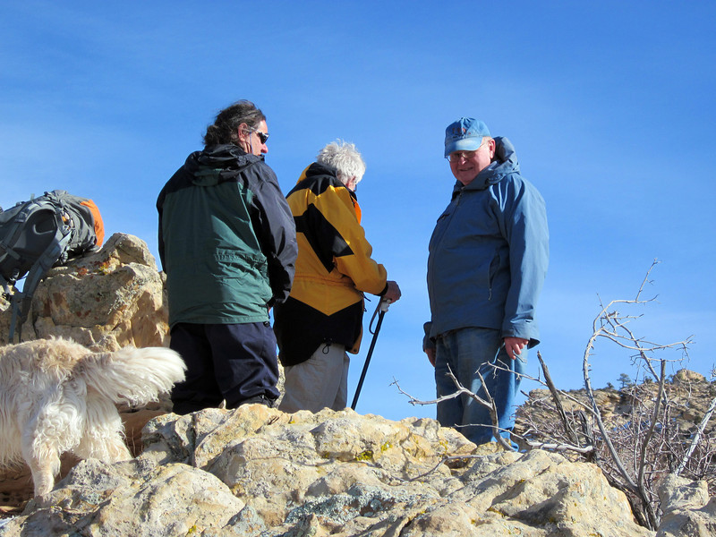 First hike, New Year's Eve-from Escalante, above the Escalante River on a piece of the old Boulder mail trail
