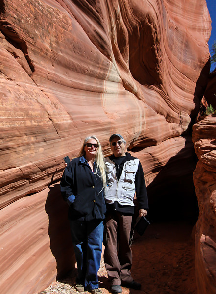 Day 5. morning tour of the slot canyons. Joe and our guide, Cathy