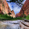 Day 1 Zion. HDR along the riverbed.