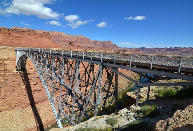 Original bridge over Marble Canyon