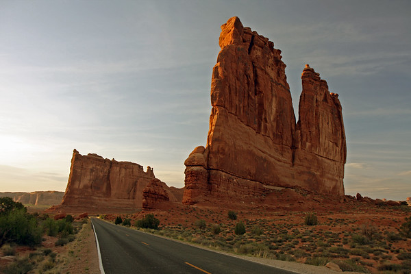 The Courthouse Towers in Arches National Park