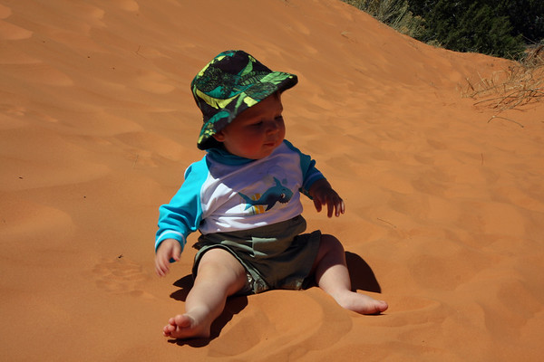 """Gotta think that Alex was thinking """"Wow this is an awfully big sand box""""...."""