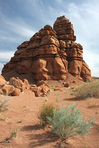 Along highway 24 just North of Hanksville, Utah. We pulled over along the highway to feed Alex his bottle, and I stumbled across these rocks. Such a strange formation in the middle of nowhere, but thought they were pretty cool so took a picture. Funny thing is, there are formations like this all over Utah that have no name, but are incredibly beautiful and have probably been around for millions of years.