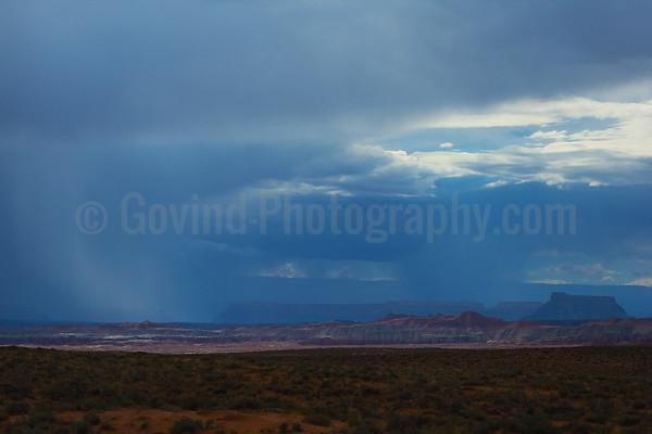 Rainfall over the desert