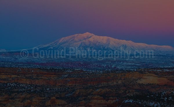 Navajo Mountains after Sunset