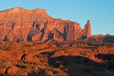 Fisher Towers from Onion Creek - Moab