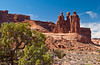 Park Avenue and Three Gossips in Arches National Park, Utah, USA, America.