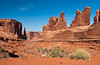Park Avenue in Arches National Park, Utah, USA, America.