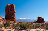 Balanced Rock in Arches National Park, Utah, USA, America.