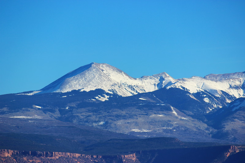 View of La Sal Mountains
