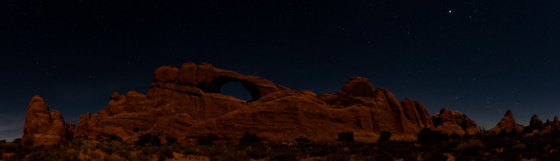 Skyline Arch and Rising Orion