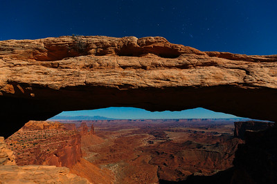 Moonlit Mesa Arch & Buck Canyon 1