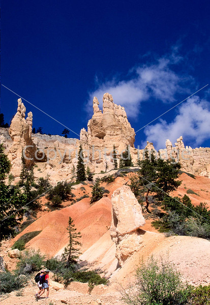 Day hikers in Utah's Bryce Canyon National Park - 1 - 72 ppi