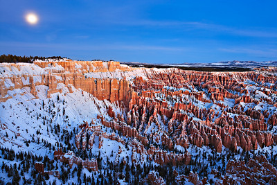 Blue Moon setting, from Bryce Point New Years Day, 2010