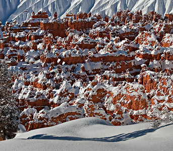 Sunset Point - hoodoo city after a fresh snow