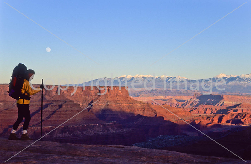 Hiker in Canyonlands National Park, Utah - 21 - 72 ppi