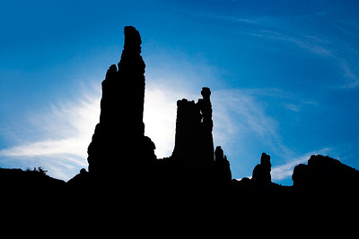 Washer Woman Arch silhouette  from the White Rim Trail
