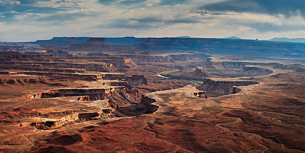 Green River dissects the White Rim - Green River Overlook
