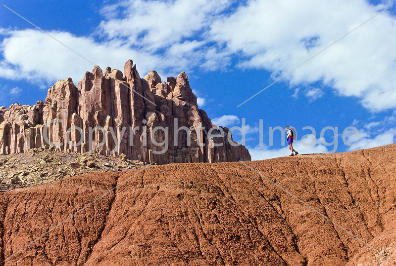 Day hiker in Capitol Reef Nat'l Park, Utah - 6 - 72 ppi