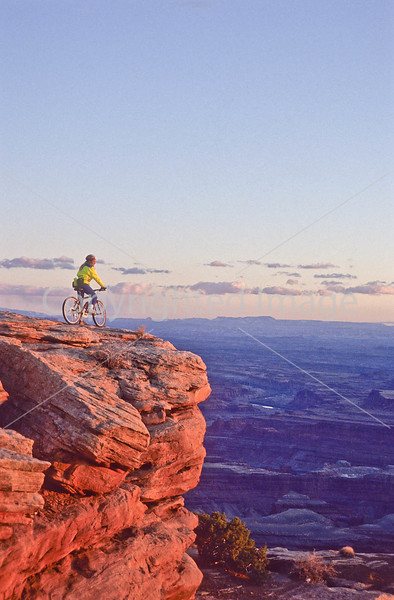 Mountain biker at Dead Horse Point State Park, Utah - 2 - 72 ppi