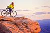 Mountain biker at Dead Horse Point State Park, Utah - 6 - 72 ppi