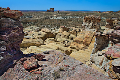 Colorful Dakota conglomerate capping Entrada Sandstone Upper White Rocks area