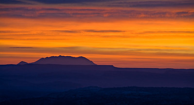 Pastel Sunrise - view east to the Henry Mtns.  from Hwy 12 overlook