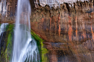 Lower Calf Creek Falls - Detail