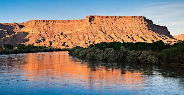 The Green River as it exits the Book Cliffs just north of Green River, Utah
