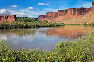 Afternoon on the Green River, just below Mineral Bottom White Rim Trail, Canyonlands NP, Utah