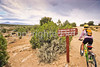 Biker at Hovenweep National Monument on Utah-Colorado border - 17 - 72 ppi