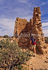 Hiker at Hovenweep National Monument on Utah-Colorado border - 29 - 72 ppi