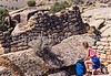 Hiker at Hovenweep National Monument on Utah-Colorado border - 25 - 72 ppi