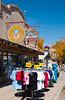 Shops and restaurants in Moab, Utah, USA, America.