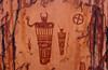 Indian art, hyroglyphics in Moab, Utah, USA, America.