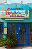Restaurant and shop fronts in Moab, Utah, USA, America.