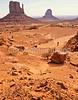 Mountain biker in Monument Valley Navajo Tribal Park on Utah-Arizona border - 7#2 - 72 ppi