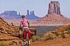 Mountain biker in Monument Valley Navajo Tribal Park on Utah-Arizona border - 8 - 72 ppi