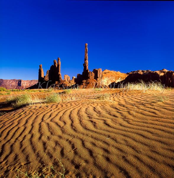 The Yei Bi Chei rocks,- Monument Valley, Navajo Nation, Utah, USA.