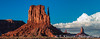 Various views of Monument Valley, buttes, clouds and spires in the four corners region of Utah, USA.