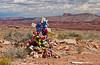 A roadside death memorial near Mexican Hat, Utah, USA, America.