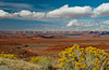 Buttes and canyons along Hwy 163 near Mexican Hat, Utah, USA, America.