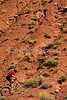 Utah - Mountain bikers above Fisher Towers near Castle Valley - 12 - 72 ppi