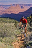 Utah - Mountain bikers above Fisher Towers near Castle Valley - 23 - 72 ppi