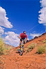 Utah - Mountain bikers above Fisher Towers near Castle Valley - 17 #2- 72 ppi