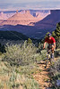 Utah - Mountain bikers above Fisher Towers near Castle Valley - 25 - 72 ppi