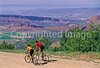 Utah - Mountain bikers above Fisher Towers near Castle Valley - 16 - 72 ppi