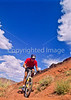 Utah - Mountain bikers above Fisher Towers near Castle Valley - 17 - 72 ppi